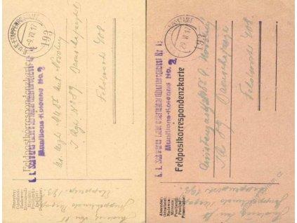 No.193, K.u.K. Etappenpostamt No.193 + útvarové