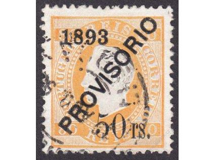 1893, 50rs/80R Luis, MiNr.94, razítkované