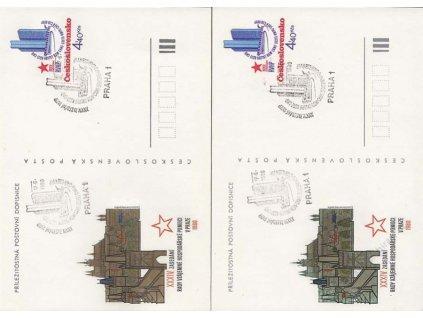 CDV 194 dopisnice 4.40Kčs RVHP, 2 ks - odstíny