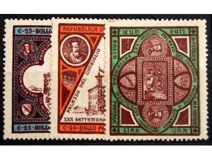 1894, 25C-1L série, MiNr.23-25, těžší *
