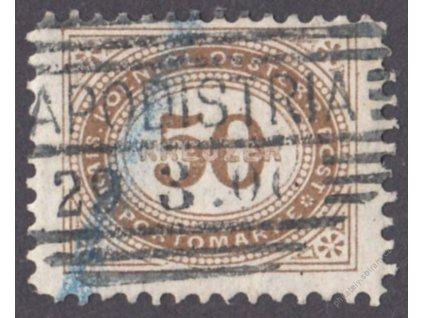 1894, 50Kr doplatní, L 11 1/2, MiNr.9XE, razítko