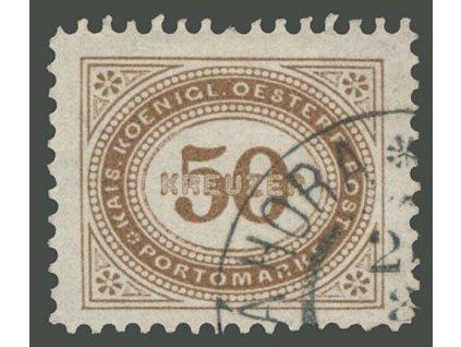 1894, 50Kr doplatní, MiNr.9, razítkované