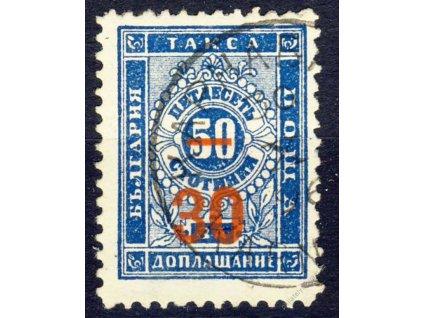 1895, 30St/50St doplatní, MiNr.12, razítkované