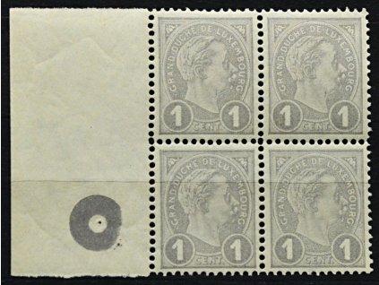 1895, 1C Adolf, kraj. 4blok s kruhovou značkou, **