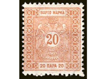 1895, 20Pa doplatní, Mi.min.120Euro, MiNr.3A, **