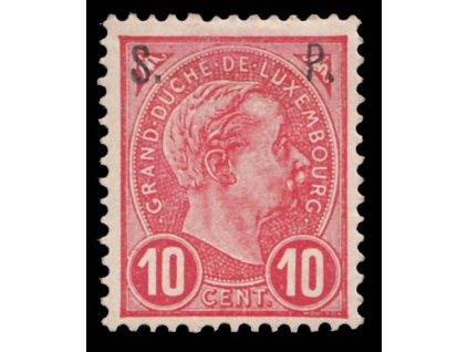 1895, 10C služební, MiNr.61, * po nálepce
