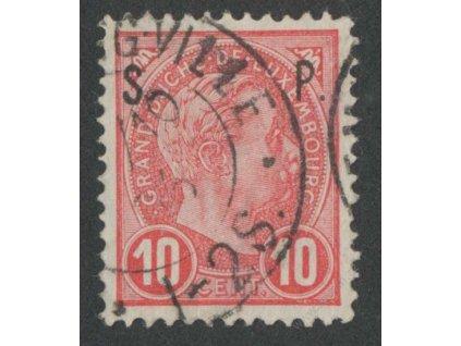 1895, 10C služební, MiNr.61, razítkované