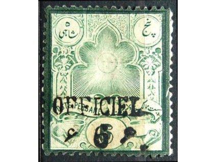 Irán, 1896, 6Ch/5Ch Znak, těžší *