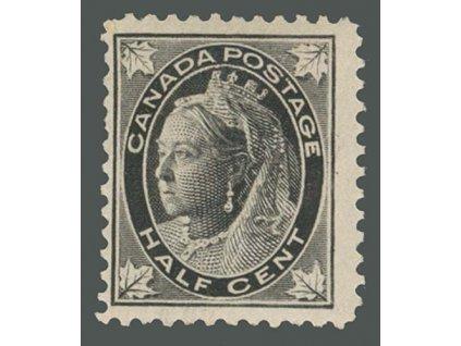 1897, 1/2C Viktoria, MiNr.54, * po nálepce