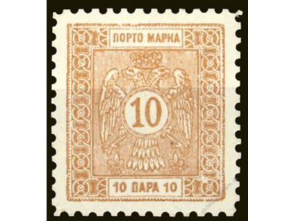1898, 10Pa doplatní, ZT na křídovém papíru, (*)