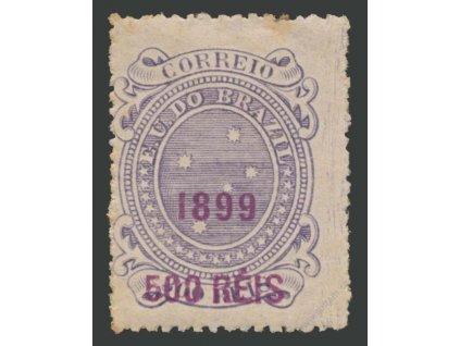 Brasílie, 1899, 500R/300R Hvězdy, těžší * , několik skvrnek