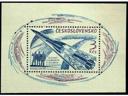 1964, 3Kčs  Let tří kosmonautů, Nr.A1400, **