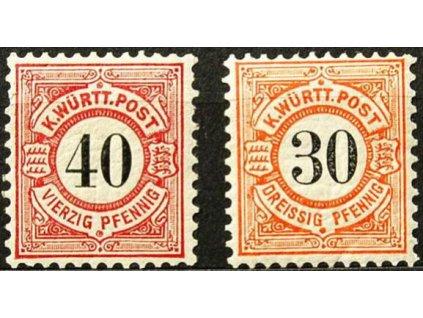 Württemberg, 1900, 30-40Pf série, *