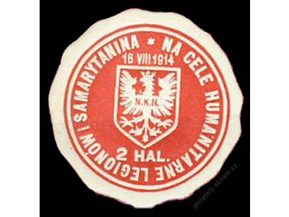 Polsko, 1914, 2HAL, nálepka na Legionów, ** , lom