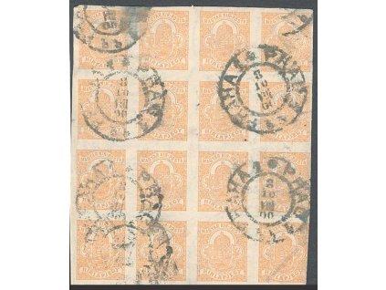 1900, Praha, 16blok uherských novinových známek