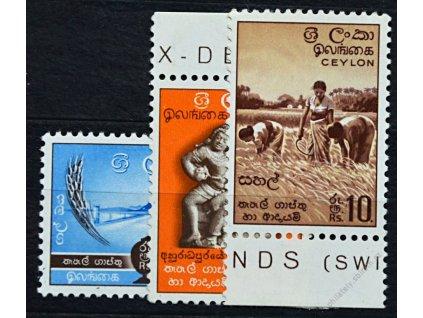 Ceylon, 1951, 2-10R koncové hodnoty série, **