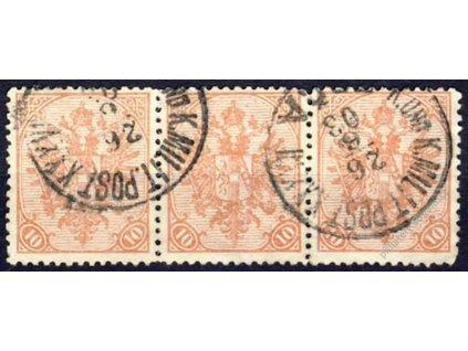 1900, 10H Znak, 3páska, MiNr.15, razítkované