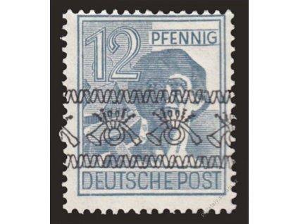 Americká a Britská zóna, 1948, 12Pf obrácený, *