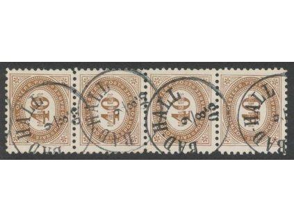 1900, 40H doplatní, L 10 1/2, 4páska, MiNr.32C, razítkované