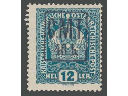 Kolomea, 1919, 40H/12H Koruna, MiNr.6, * po nálepce