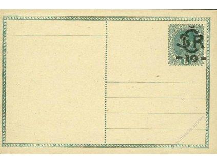 CDV 1 Velký monogram, typ II, modrošedý papír