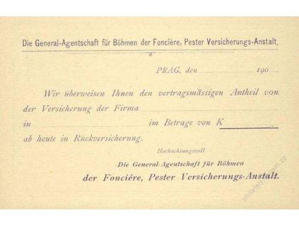 1901, dopisnice 5H s přítiskem na zadní straně, neprošlé