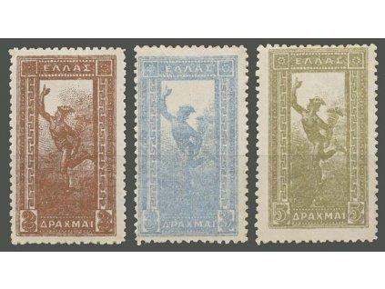 1901, 2, 3 a 5Dr Hermes, MiNr.136-38, * po nálepce