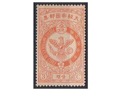Korea, 1903, 3Ch Znak, MiNr.35, * po nálepce