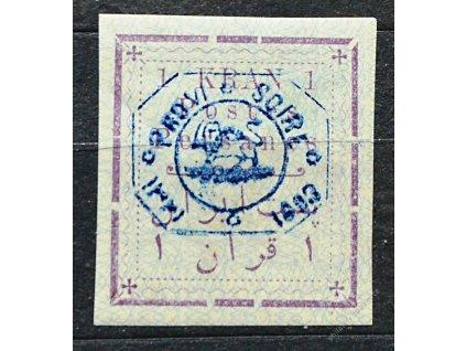 Irán, 1903, 1Kr fialová/modrá, * po nálepce