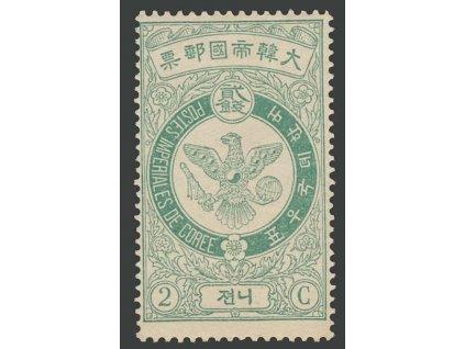 Korea, 1903, 2 Ch Znak, MiNr.34, * po nálepce