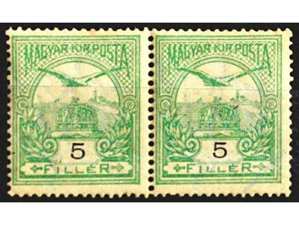 1904, 5f Turul, 2páska, obrácená průsvitka, **