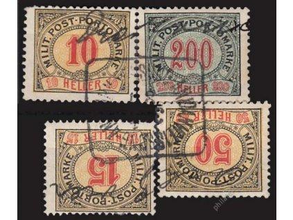 1904, 10, 15, 50 a200H doplatní, razítkované