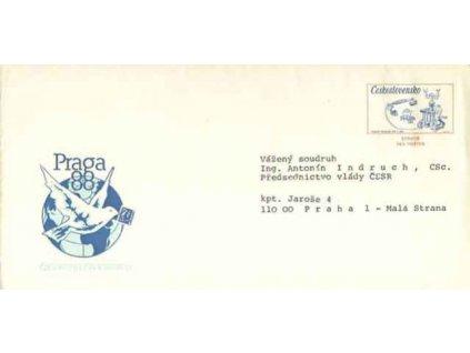CSO 5 Výstava PRAGA 1988, služební obálka
