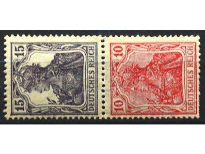 1905, 15 a 10Pf Germanie, svislý soutisk, * po nálepce