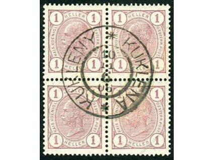 1906, DR Kukleny, 4blok 1H Franc Josef
