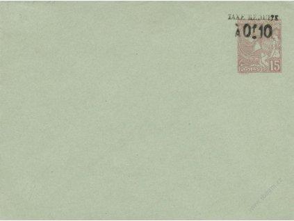 1906, celinová obálka 10C/15C MiNr.U10A, neprošlé