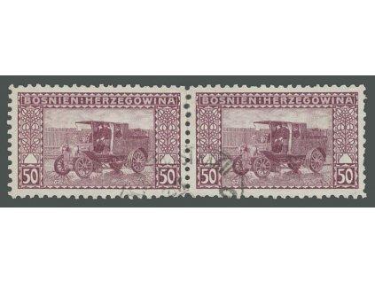 1906, 50H Poštovní auto, L 9 1/4, 2páska, razítkované