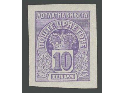1907, 10Pa doplatní, nezoubkovaná, ** , lehký vlom