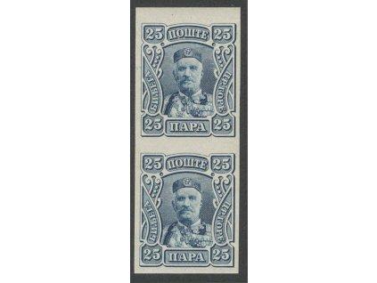 1907, 25H Nikola, 2páska, MiNr.67U, **/*