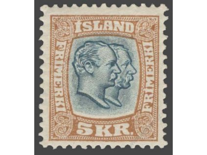 1907, 5Kr Christian, Mi.300Eur, MiNr.62, **