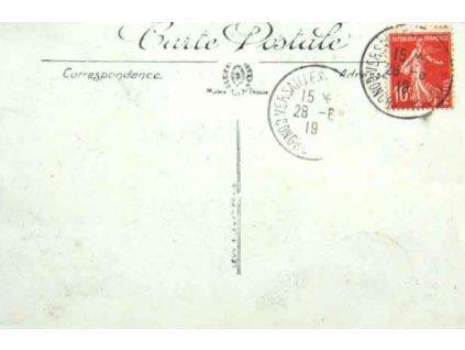 1909, VERSAILLES CONGRES DE LA PAIX, pohlednice, neprošlá