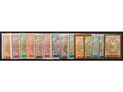 Irán, 1909, 1-20Kr Znak, * po nálepce