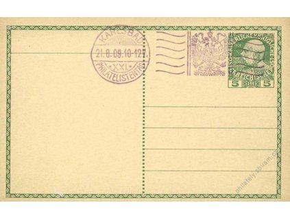 1909, Karlsbad, Philatelistentag, dopisnice 5H
