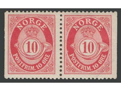1909, 10Q karmínová, 2páska, MiNr.79D,D, */**