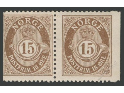 1909, 15Q hnědá, 2páska, MiNr.81D,D, **/*