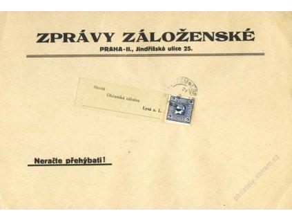 1910, DR Lysá nad Labem, novinový tiskopis, páska, A4