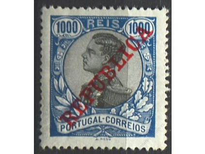 1910, 1000R Manuel s přetiskem REPUBLICA, * po nálepce