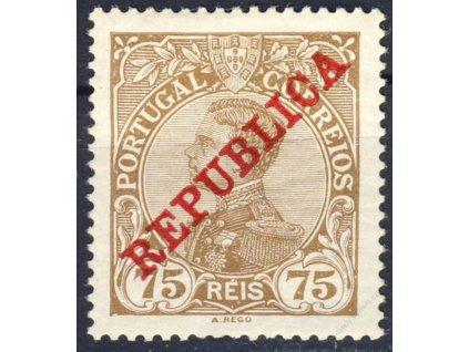 1910, 75R Manuel, MiNr.175, * po nálepce