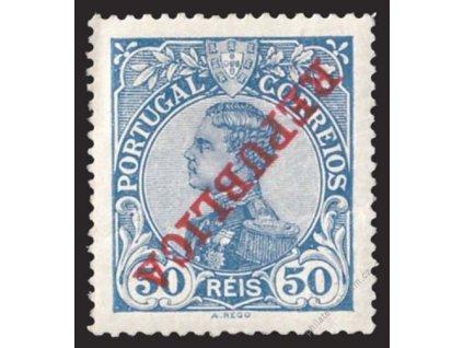 1910, 50R Manuel, obrácený přetisk, * po nálepce