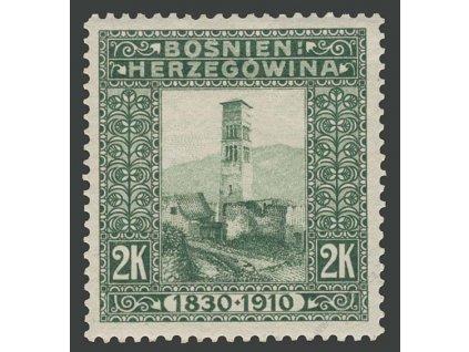 1910, 2Kr Kostel, MiNr.59, * po nálepce